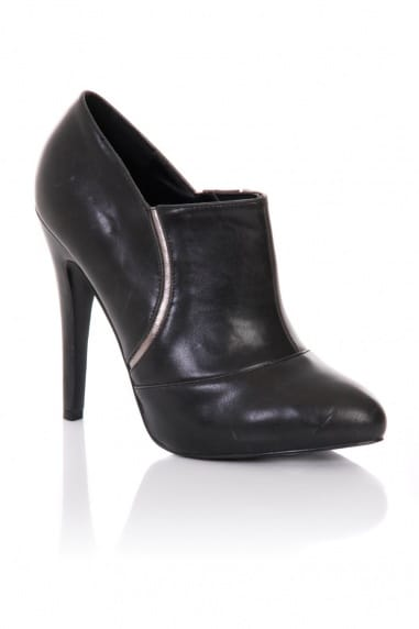 Black Stiletto Heel Ankle Boots