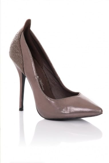 Pewter Pointed Court Stilettos