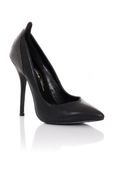 Black Pointed Court Stilettos