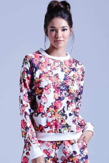 White Kaleidoscope Floral Jumper