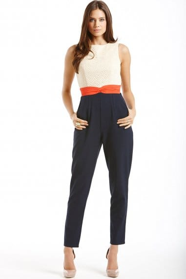 Triple Tone Twist Waist Jumpsuit