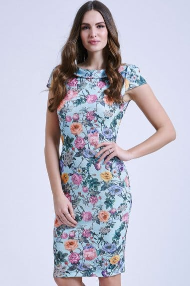 Floral Collared Waffle Dress