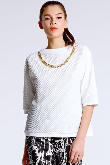 White Textured Necklace Box Top