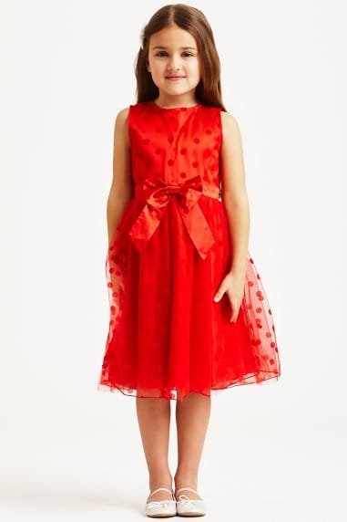 Red Polka Dot Bow Dress