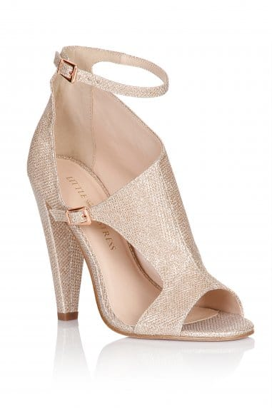 Nude Glitter Cut Out Shoes