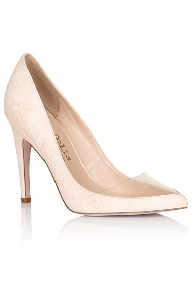 Nude Pointed Insert Heels