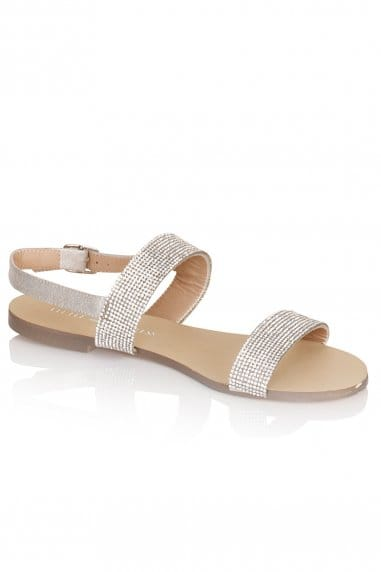 Two Strap Glitter Sandals
