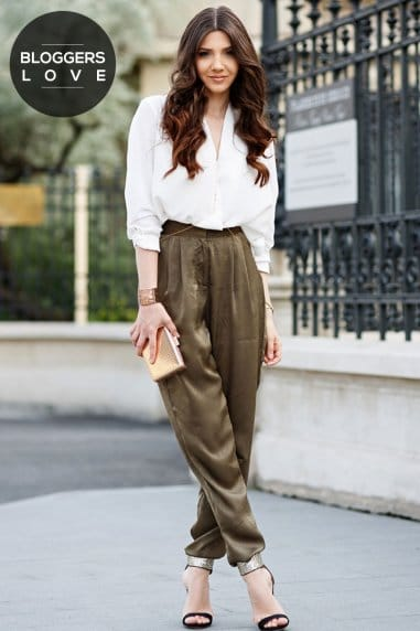 Khaki Drawstring Jogging Trousers