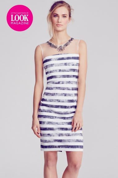 Roxy Black and White Stripe Dress