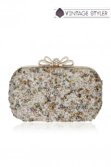 Harlow Crystal Scatter Reversible Clutch