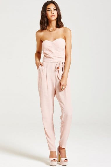 Dusty Pink Bandeau Jumpsuit