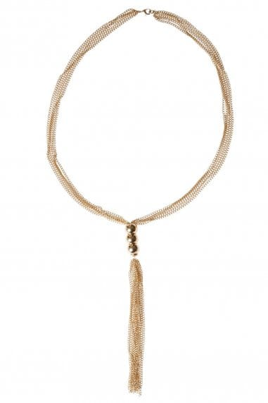 Multi Row Gold Chain Necklace