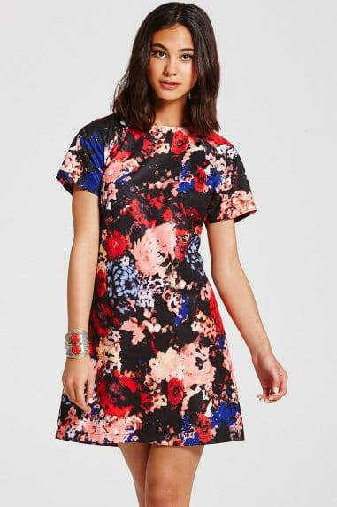 Blue Floral Tunic Dress