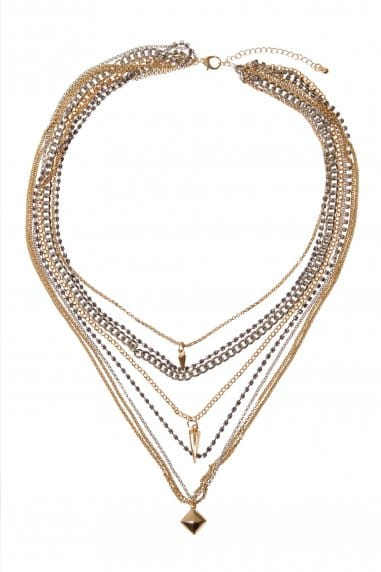 Multi Layer Triangle Necklace