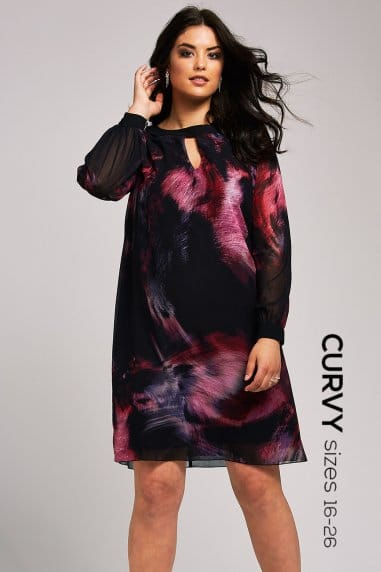 Black Print Tunic Dress