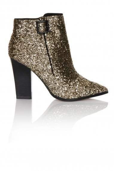 Gold Glitter Ankle Boot