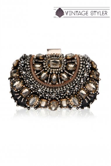 Vintage Styler 'Ember' Embellished Clutch Bag
