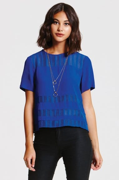 Cobalt Lace Band Top
