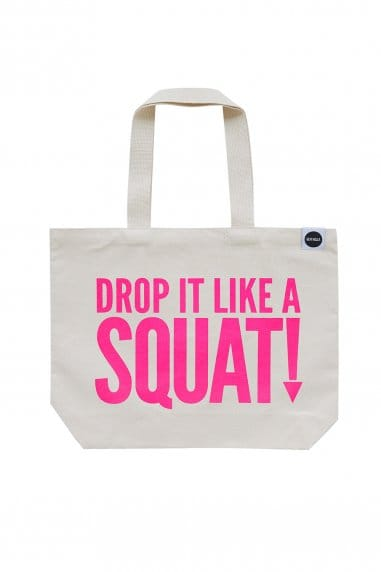 Hey! Holla Drop It Like A Squat Gym Bag