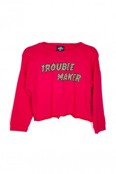 Valfre Trouble Maker Crop Sweatshirt
