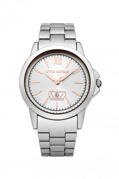 Silver Bracelet Watch with Silver Dial