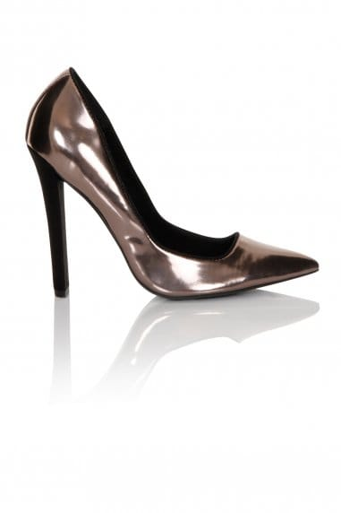 Pewter Flat Heel Court
