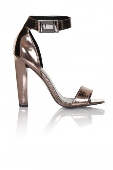 Pewter Ankle Buckle Open Toe