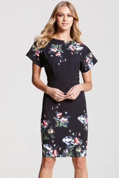 Bloom Border Print Dress