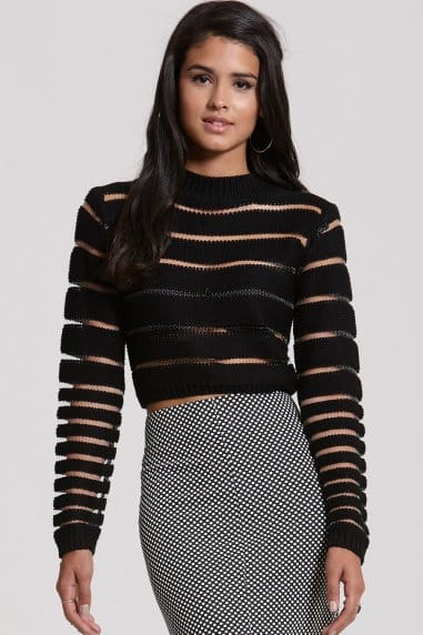 Black Mesh Panel Jumper