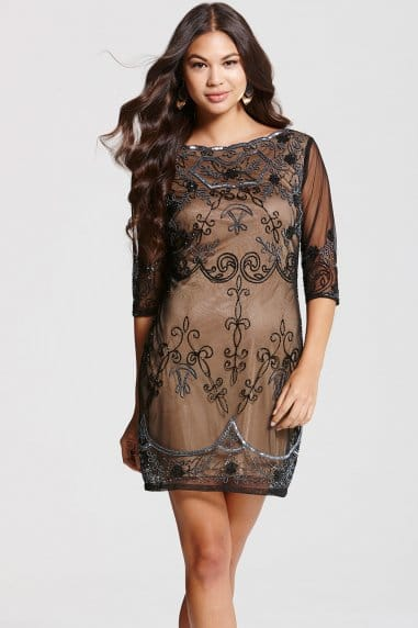 Frock and Frill Mocha Lace Embroidery Overlay