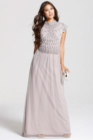 Mink Maxi Tulle Dress