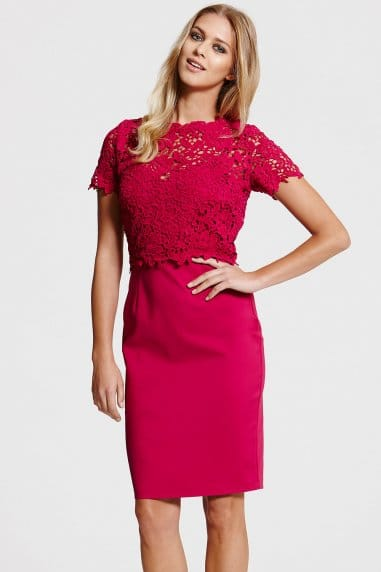 Berry Lace Top Dress