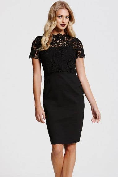 Black Lace Top Dress