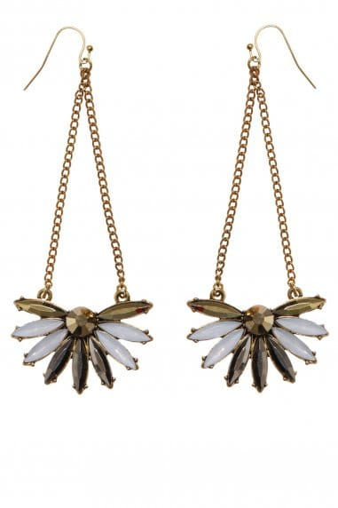 Little Mistress Accessories Gold Drop Earrings