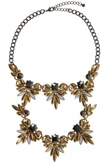 Double Row Jewelled Statement Necklace
