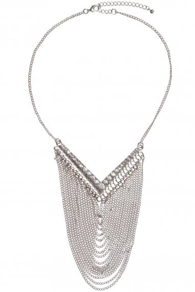Large Statement Silver Necklace