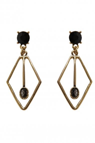 Paper Dolls Accessories Gold and Black Statement Earrings