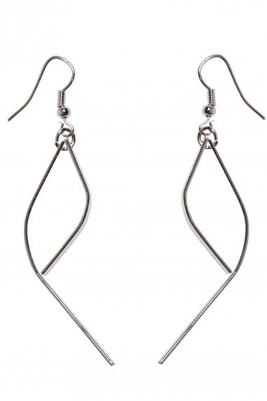 Paper Dolls Silver Drop Earrings