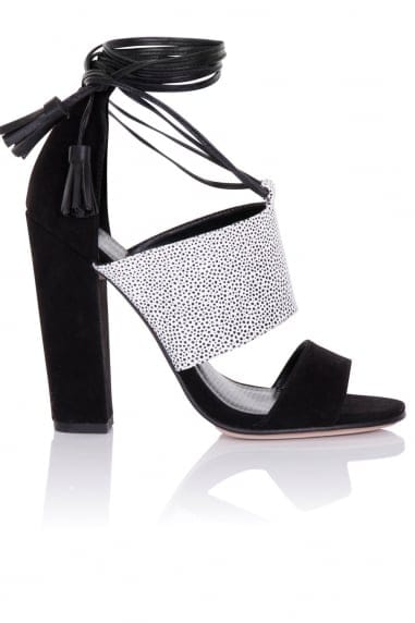 Nixie Monochrome Tassel Sandals