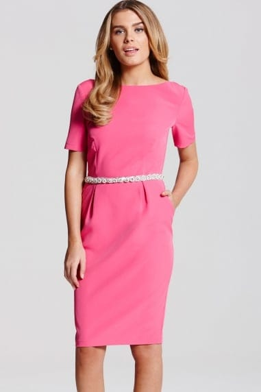 Pink Jewel Waist Dress