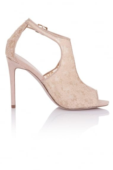 Gaia Nude Cut Out Shoe Boot