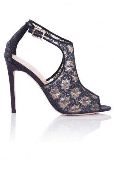 Gaia Navy Lace Cut Out Shoe Boots