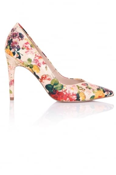 Maia Floral Print Court Shoes
