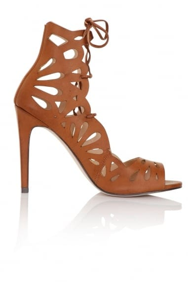 Aphrodite Tan Lace Up Heels