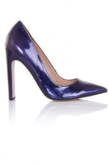 Dulcina Navy Metallic Court Heels