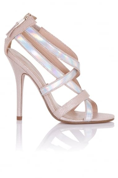 Zanna Nude Multi Strap Heeled Sandals