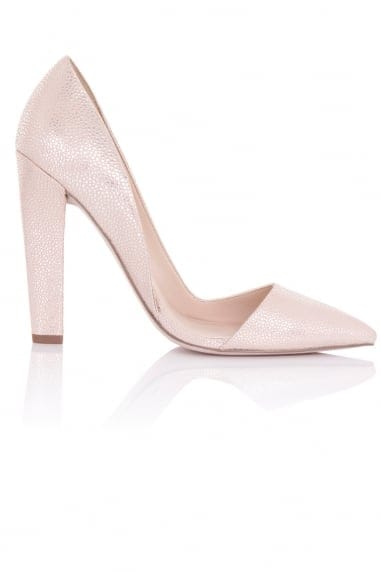 Nissa Nude Stingray D'Orsay Court Shoes