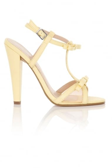 Ellette Lemon Mesh Bow Sandals