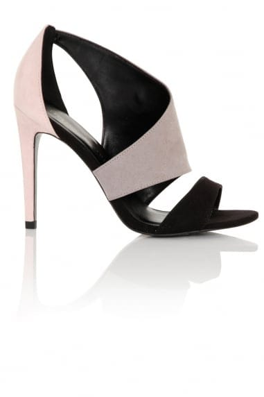 Rhea Pink, Grey and Black Cut Out Shoe Boot