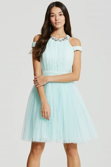 Mint Tulle Prom Dress